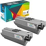 Do it Wiser 2 Toner Schwarz Kompatibel (150% mehr Inhalt! 5.000 Seiten) für Oki C531DN MC562 MC562DNW C511DN C510 C510DN C511 C530DN C531 MC561 MC561DN MC562DN MC562W | 44469804