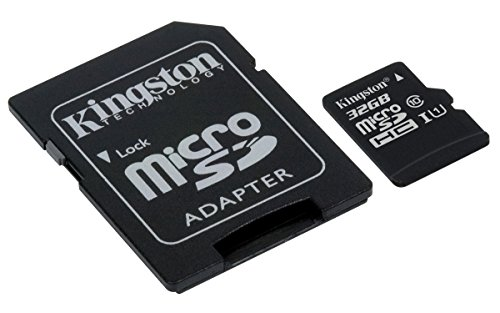 Kingston SDCS/32GB - MicroSD Canvas Select 32 GB, velocidades de UHS-I Clase 10 DE hasta 80 MB/s Lectura (con Adaptador SD)