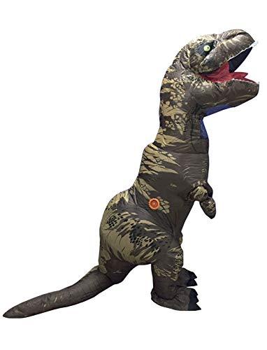 Erwachsene Kostüm Aufblasbar Für Dinosaurier - TrendClub100® Aufblasbares Dinosaurier Kostüm Dino T-Rex mit Ventilator (Dinosaurier)
