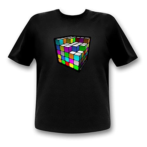 LED-Fashion Cube T-Shirt (l)