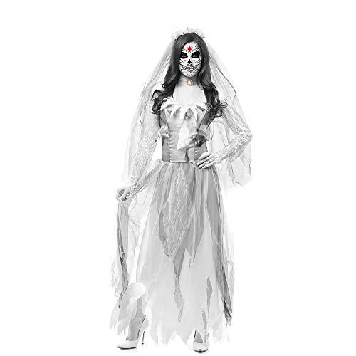 Zombie Mutterschaft Kostüm Baby - PRTQI Halloween-Kostüm Erwachsene Horror Blutige Cosplay Braut Zombie-Kostüm