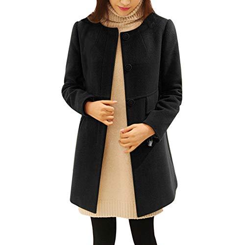 Mambain trench donna elegante invernale parka donna lungo caldo singolo breasted taglie forti giubbotto cappotti di lana donna manica lungo antivento imbottito pesante giacca giacche