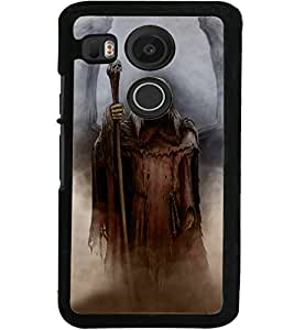 ColourCraft Dark Angel Design Back Case Cover for LG GOOGLE NEXUS 5X