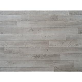 PVC in Holzdielen-Optik, weiß-grau - von Alpha-Tex 9.95€/m² (Länge: 150 cm, Breite: 400cm)