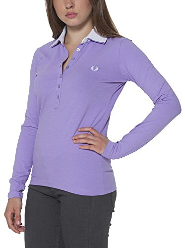 FRED PERRY 31032202 Polo avec les manches longues Femme Violet