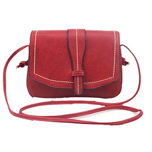 Womens Koffer (Umhängetasche,Amlaiworld Women Fashion Handtasche Schultertasche grosser Shopper Damen Handtasche (rot))