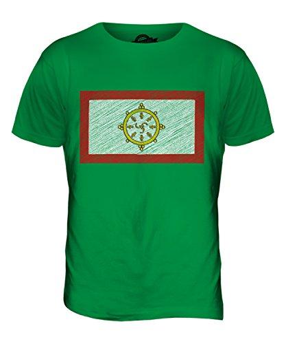 CandyMix Sikkim Kritzelte Flagge Herren T Shirt Grün