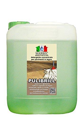 Marbec - PULIBRILL 5LT   Detergente concentrato specifico per pavimenti in legno