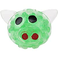 Squishy Stress Relief Funny Pig Hand Fidget Stress Reliever Squeezy & Bouncy Antistress Toy for Kids Adult Green