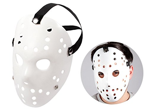 (Alsino Totenkopfmaske Vendetta Maske Karneval Saw Fasching Maske Blue Mask Kostüme Geist, wählen:Mas-66 Jason Maske)