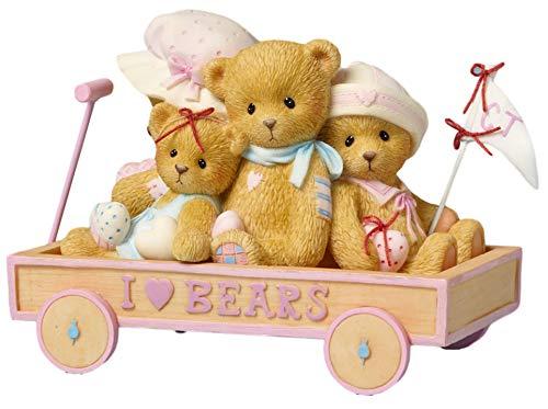 Cherished Teddies Gary, Eleanor, Sheila & Susanna I Love Bears Cart by enesco -