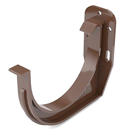 Dachrinnenhalter 100mm PVC braun halbrund Regenrinnenhalter Rinnenhalter