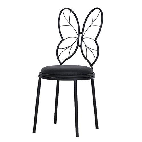 Chang-dq papillon sedia, sedia schienale in metallo semplice sedia trucco manicure negozio sedia singola sedia spogliatoio ferro sgabello sedia bar casa decorazione della stanza sedia 85/115 cm sgabel