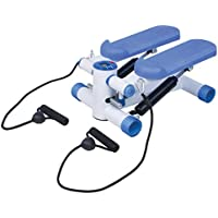 Mini Stepper with Training Ropes & LED Display – Legs Arms Up-Down Thigh Toner Toning Machine Workout Training Exercise with Resistance Cords