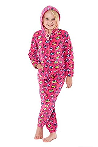 Kids Microfleece All In One Zapp Pink - 7-8 Years