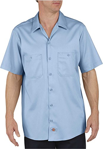 Dickies - - LS307 - Industrie-Short Sleeve Work Shirt aus Baumwolle Light Blue Dow