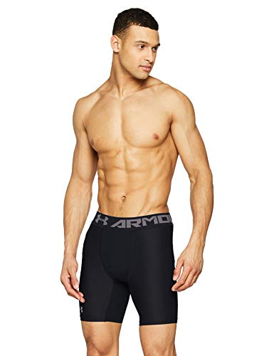 Under Armour HG Armour 2.0 Comp Short, Pantaloncini Uomo, Nero (Black/Graphite 001), M