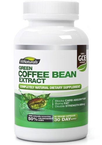 VitNaturals - Extrait de grain de café vert - Bruleur de graisses - 800mg - 60 capsules