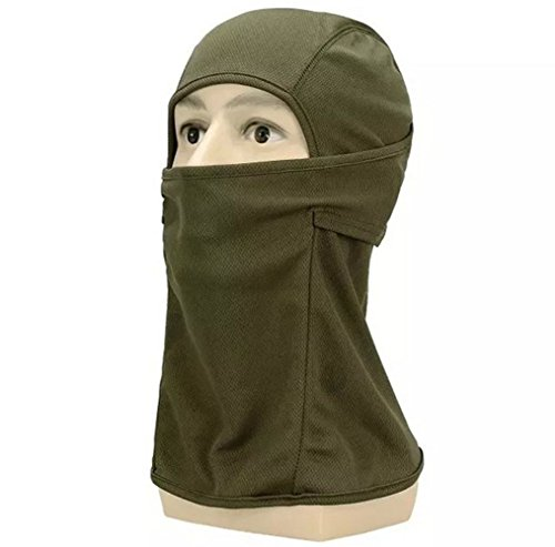 OSdream Outdoor Sports Full Face Maske/Military Sturmhaube Full Face Mask, grün, Einheitsgröße (Grün Full Face Maske)