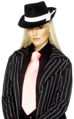 Rosa Gangster Echt Tie–Fancy Dress Kostüm Lady (Kostüme Rosa Gangster)