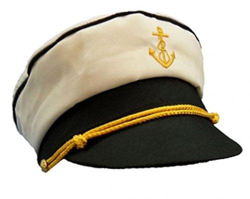 (Islander Fashions Mens Marine Kapit�n Sailor Peaked Hut Unisex Buch Woche Kost�m Zubeh�r Hut One Size)