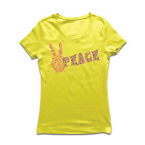 irt Blumen Friedenssymbol, 60s 70s Hippie-Festival, Friedenszeichen, Hipster Swag (X-Large Gelb Mehrfarben) (Beste Original Outfits Ever)