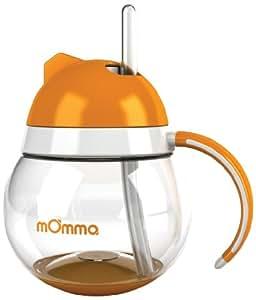 Tomy - 71267 - Momma - Tasse Anti goutte avec Paille sans Bisphénol A - 250 ml - Orange
