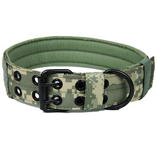 SHI-YUAN-M-DL, Hundehalsband Verstellbare HalsketteChoker große Hunde Traction Bedarf Outdoor Military Tactical Jagd-Hund Canine Hound Ausrüstung (Farbe : Camo 1, Größe : L) -
