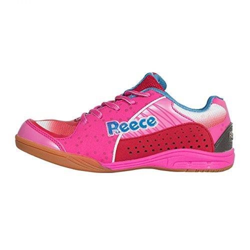 REECE Wave Chaussures de Hockey d'Intérieur Hall Rose de rouge enfants pink-rot