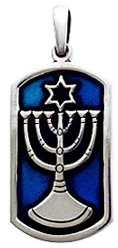 Llords Schmuck Menora Anhänger Halskette jüdischer Tempel, feinster Zinn Metall Modeschmuck (Die Kunst Der Kostüme Ändern)