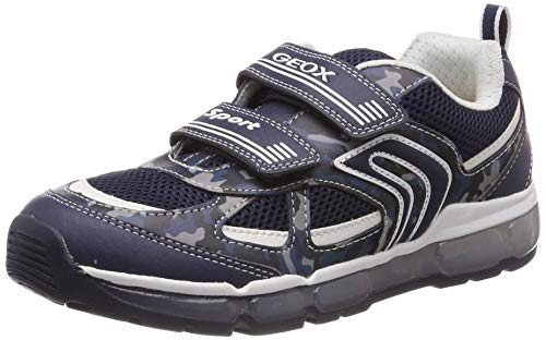 Geox Jungen J Android Boy C Sneaker, Blau (Navy/White C4211), 32 EU - Junior Boy Casual Schuhe
