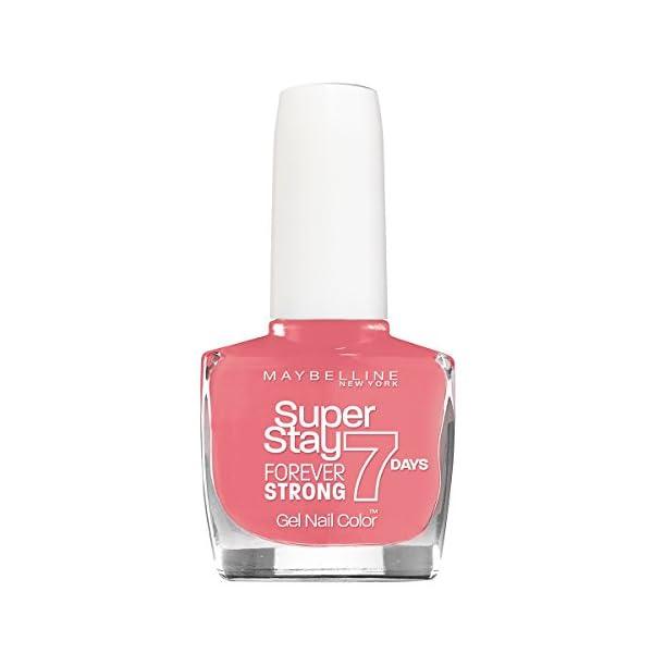 Maybelline New York B 25.343 Súper Stay 7 Días esmalte de uñas, 1er Pack, Flamingo Pink (1 x 0:01 l)