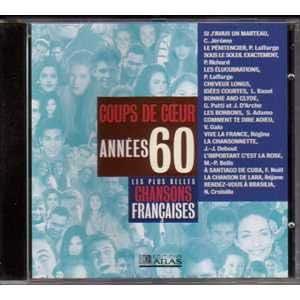 Les plus belles chansons francaises - Coups de coeur annees 60 1960- 1969 - Vol 1CD