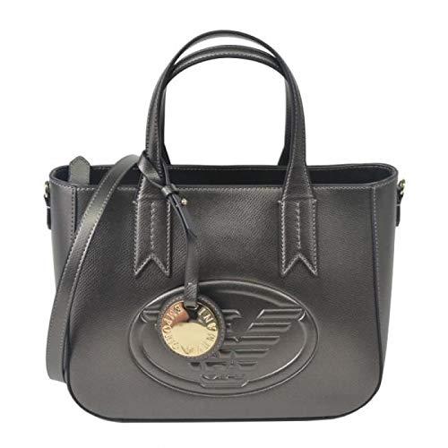 Emporio Armani Eagle Logo Damen Handtasche Metallisch