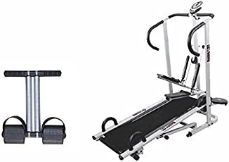 Lifeline 4 In1 Manual Treadmill with Double Spring Tummy Trimmer