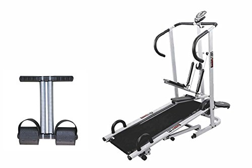 Lifeline 4 In1 Manual Treadmill With Double Spring Tummy Trimmer  available at amazon for Rs.10199