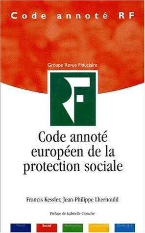 Code annoté européen de la protection sociale