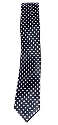 Evil Wear 50er Jahre Krawatte Anzug Schlips schwarz mit weissen Punkten