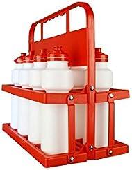 Softee 8435406802996 - Portabotellas para 8 botellas de 750 ml, color rojo