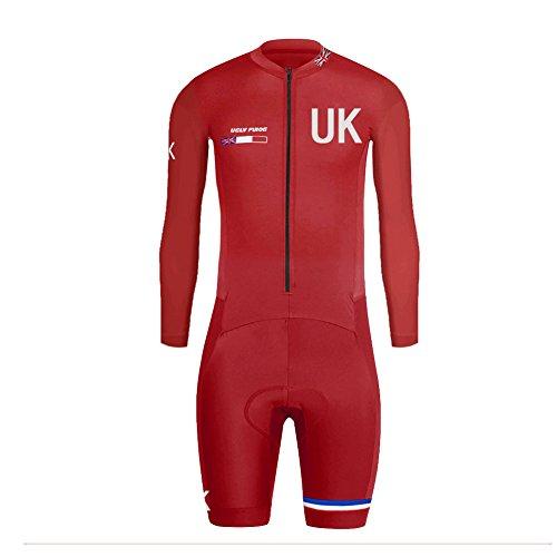 Uglyfrog 2018-S01 Bike Wear Sommer/Frühling Herren Lange Ärmel Cycling Jersey Anzüge Radtrikot with Short Legs Skinsuit Sport & Freizei Clothes -