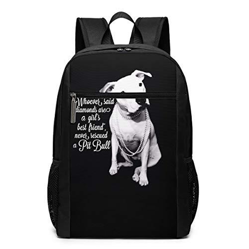 PecoStar Rucksack Pitbull Love Dog Zitate Schulranzen für Teenager Rucksack Schulranzen Büchertaschen Perfekt für Schule und Reisen, Schwarz (Schwarz) - Sleusjh-Eldjr-49862995 (Pitbulls Blau-gurt Für)