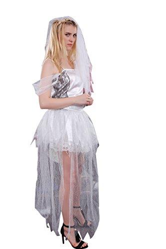 Nuoqi® Halloween gespenstische Braut Kleid Cosplay Kostüm (38/40, (Gespenstische Braut)