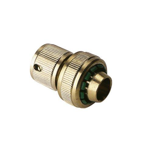 Xclou 369752 morsetto per tubo flessibile in ottone, con raccordo acqua-Stop, attacco 1/2