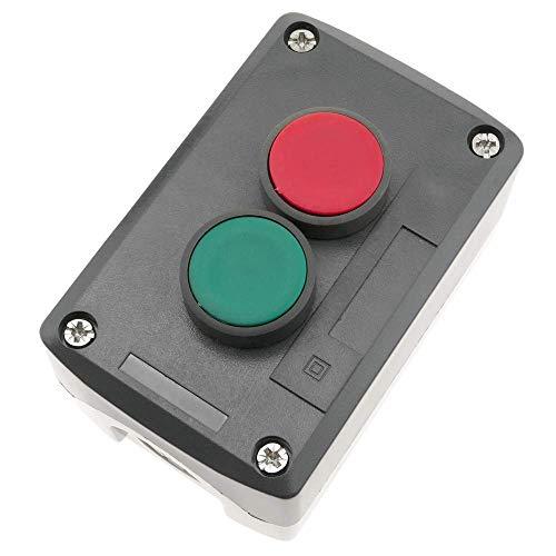 BeMatik - Steuerung Kontrolle Station Kasten mit 2 momentanem Taste Druckknopf grün 1NO rot 1NC