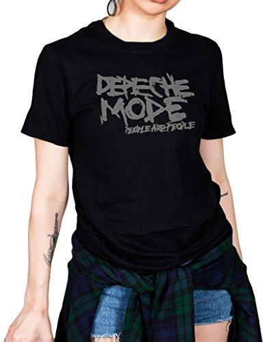 Cosmic Saint Officiel Depeche Mode Personnes Are Personnes T-Shirt Unisexe Spirit Delta Machine Bande - Noir, Large