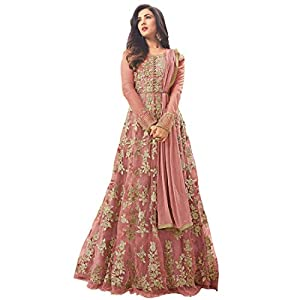 Home Fashion Women's Net Semi-stitched Salwar Suit
