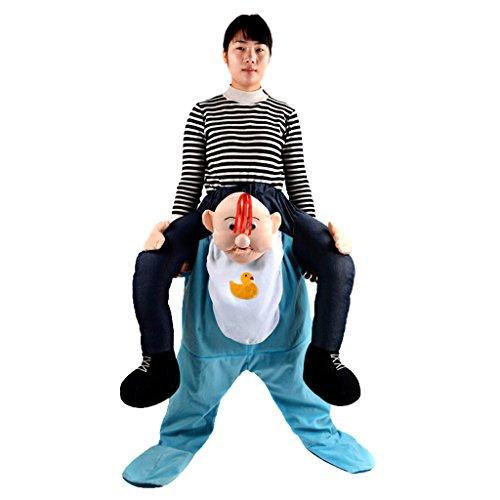 Gazechimp Neuheit Baby Schulter Tragen Kostüm Anzug für Karneval Halloween Kostüm Party St. Patrick's (Kostüm Tragen)