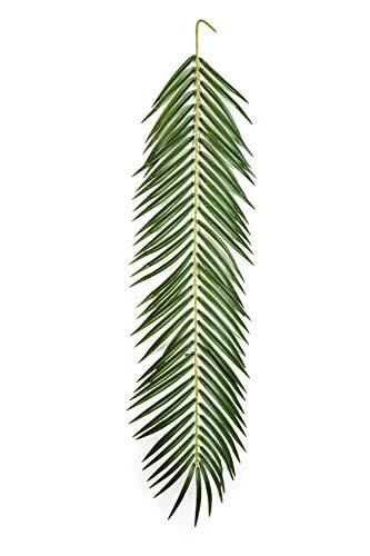 artplants Set 'Künstliche Phönix Palmwedel + Gratis UV Schutz Spray' – Kunstwedel Jaime, grün, 105 cm