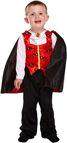 Boys Girls Halloween Witch Vampire Devil Spider Fancy Dress Frankenstein Costume (2-3 years, Toddler Vampire)