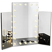 Beautify Vanity Makeup Mirror - Dressing Table/Vanity Tri-Fold Mirror - 3 Way Folding Design